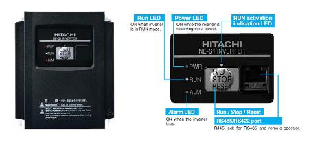 Hitachi NES1-004LB Inverter